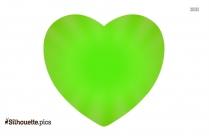 Green Heart Silhouette Free Vector Art