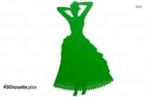 Velvet Long Sleeve Maxi Dress Silhouette
