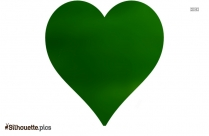 Green Love Heart Vector Silhouette