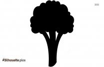Green Stalk Of Broccoli Silhouette