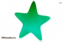 Green Star Silhouette Image