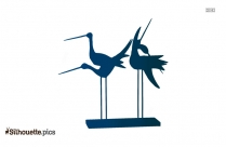 Love Birds On A Branch Silhouette Illustration