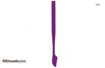 Flat Spatula Silhouette Clip Art