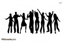 Group Dance Silhouette Clip Art