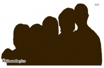 Group Of Students Silhouette Image