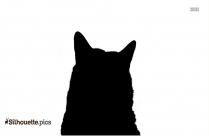 Cat Purring Silhouette Clip Art
