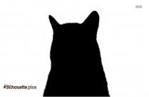 Cartoon Cat Silhouette Vector