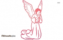 Guardian Angel Outline Drawing Silhouette