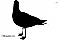 Cartoon Duck Toy Animal Silhouette