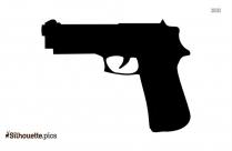 Cartoon Gun Silhouette Icon