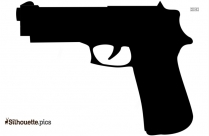 Black And White Cable Gun Silhouette