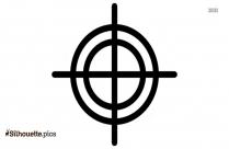 Gun Shooting Symbol Clipart || Targeting Circular Shape Silhouette