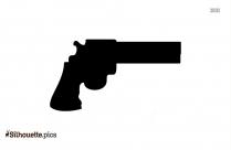 Revolver Silhouette Vector