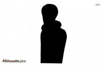Boxer Silhouette In White Background