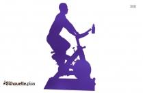 Cartoon Cartoon Exercise Bike Silhouette
