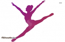 Gymnastic Girl Silhouette, Ballet Dancer Clipart