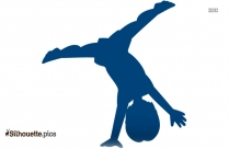 Gymnastics Practice Cartoon Silhouette Vector And Graphics