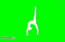 Donkey Kick Exercise Silhouette Clipart