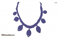 Drop Earrings Silhouette Free Vector Art