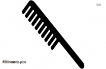 Hair Comb Silhouette Black And White