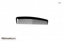 Hair Comb Silhouette Clipart Image