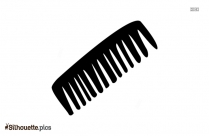 Stylist Comb Silhouette Image And Vector