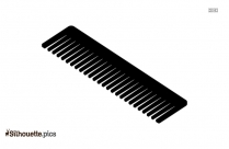 Hair Comb Silhouette Illustration
