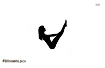 Plow Pose Silhouette Picture, Vector