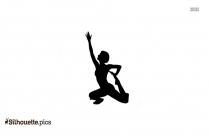 Half Splits Pose Silhouette,Ardha Hanumanasana Yoga Pose Clipart