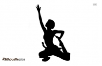Half Boat Pose Silhouette And Graphics