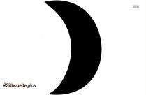 Half Moon Outline Silhouette Free Vector Art