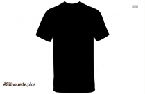 Half Sleeve T Shirt Silhouette Clipart