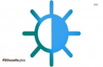 Sun Rays Symbol Silhouette
