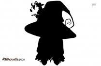 Halloween Anime Girl Cute Witch Silhouette