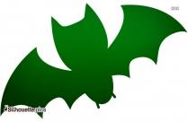 Cartoon Bat Silhouette Image