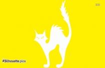 Cute Cartoon Cat Silhouette Image