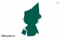 Halloween Hello Kitty Silhouette