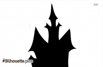 Halloween House Silhouette Vector