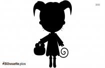 Cute Little Girl Silhouette Background