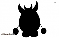 Halloween Monster Silhouette Vector