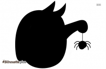 Halloween Monster With Spider Silhouette