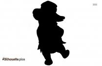 Piglet Spring Shower Clip Art, Winnie The Pooh Bear Silhouette