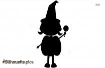 Halloween Pumpkin Boy Silhouette