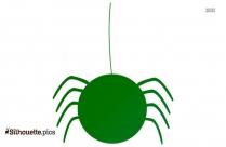 Halloween Spider Silhouette Art