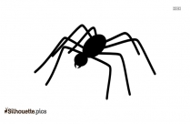 Halloween Spider Silhouette Drawing