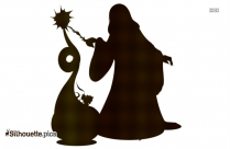 Halloween Witch Silhouette Art