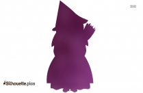 Cute Witch Clip Art Silhouette