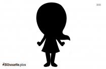 Halloween Little Girl Silhouette