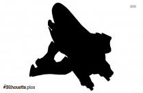 Cartoon Aircraft Silhouette Background