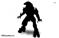 Halo Hunter Silhouette Clip Art